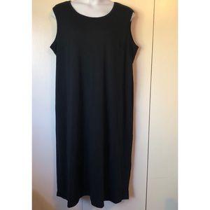Roaman's Women's Black Dress Sleeveless